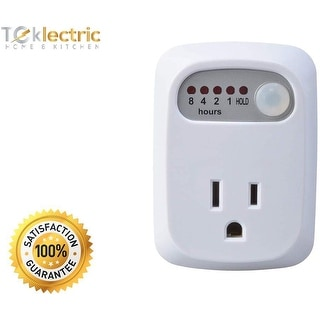 Simple Touch Auto Shut-Off Outlet - 5 Settings - for Curling Iron, Hair Straightener, iPhone, Android - Countdown Timer (1 Pack)