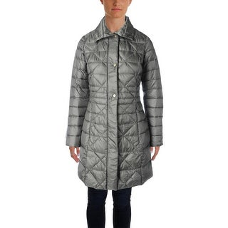 Larry Levine Womens Quilted Down Puffer Coat - XS