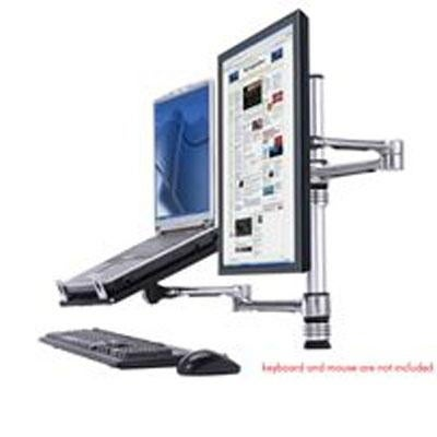 Visidec Focus Notebook And Monitor Arm Heigh Adjustable 2 Screen Desk Mount