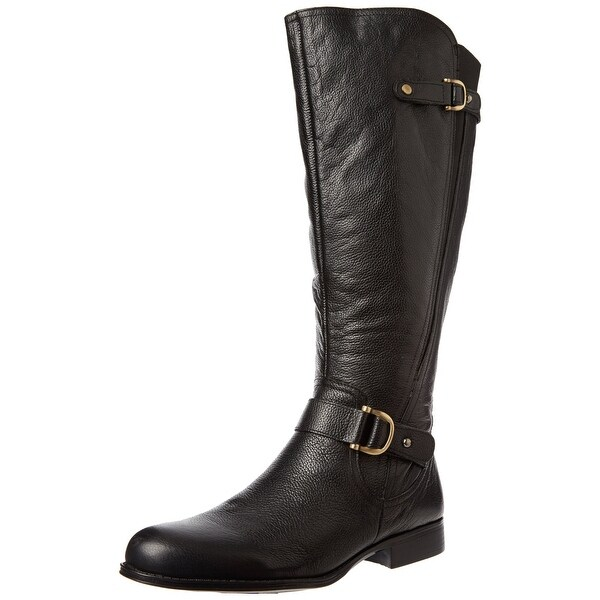 Naturalizer NEW Black Jersey Shoes 4M Knee-High Leather Boots