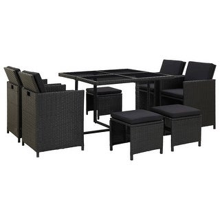 Shop vidaXL 6 Piece Outdoor Dining Set with Cushions Poly ... on Safavieh Outdoor Living Horus Dining Set id=52423