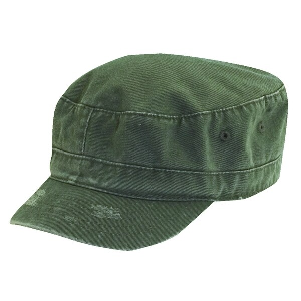 Dorfman Pacific Kids' Distressed Cotton Twill Cadet Hat - One size