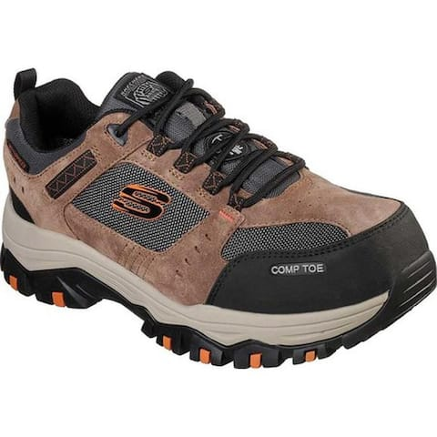 Skechers Men's Work Greetah Composite Toe Shoe Brown/Black