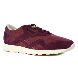 New Reebok Mens Cl Nylon J Purple Running Shoes Size 8.5
