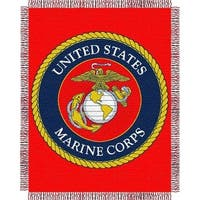 Northwest 1MIL-01900-0001-RET Us Marine Corps Jacquard Throw 46x60