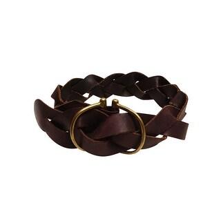 Polo Ralph Lauren Women's Braided D-Ring Leather Belt
