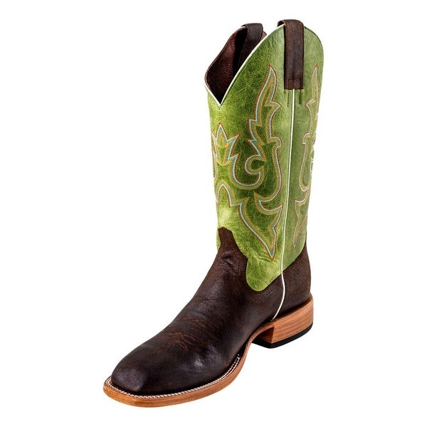 Horse Power Western Boots Mens Roper Stitching Chocolate Bucko