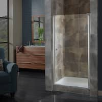 "Miseno MSD2572CLQ Pivot 72"" High x 22-1/2 - 24-1/2"" Wide Hinged Frameless Shower Door with 1/4"" Clear Glass - N/A"