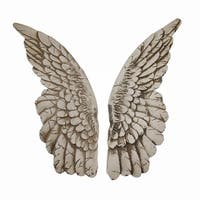 Wings of Protection Pair of Aged Finish Hanging Angel Wings - 11 X 3.5 X 1.5 inches