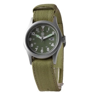 Smith & Wesson Military Watch Olive Drab 3 Changeable Straps 36mm 3ATM - Green