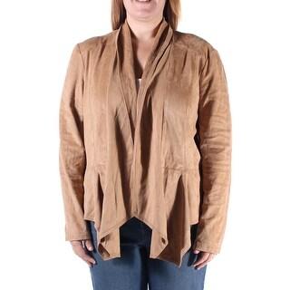 Womens Brown Bolero Jacket Size XL