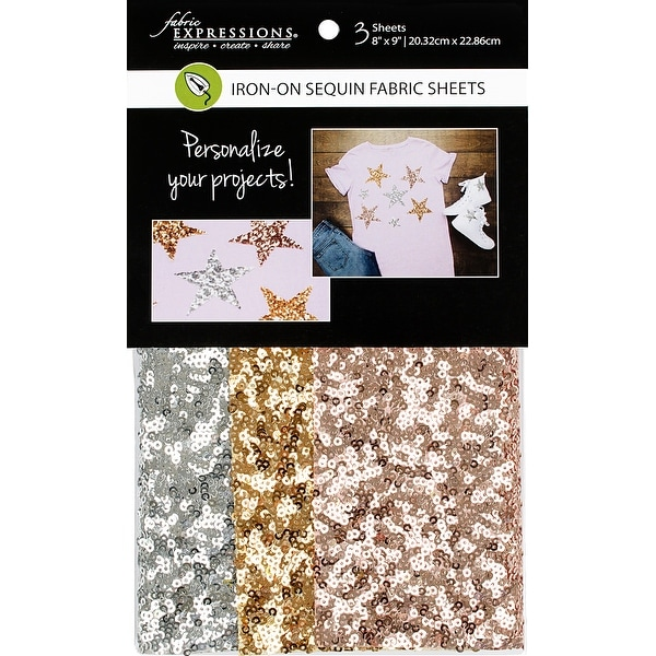 0ae0b5ee69 Fabric Expressions Fusible Sequin Sheets 8