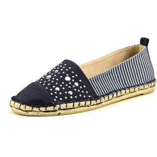 White Mountain Alfresco Women Round Toe Canvas Blue Espadrille
