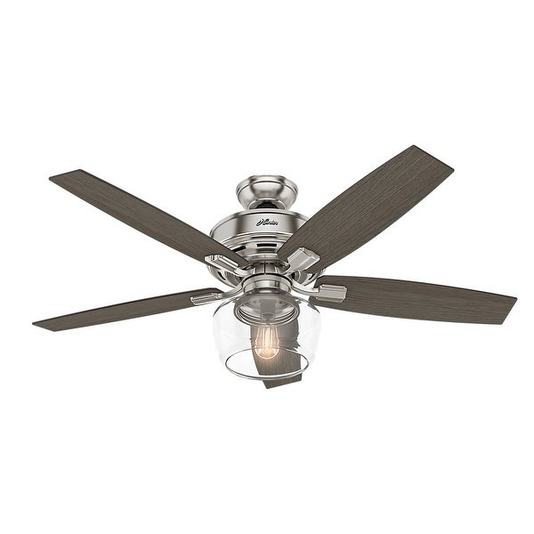 "Hunter 52"" Bennett Ceiling Fan with Bowl LED Light Kit and Handheld Remote. Opens flyout."