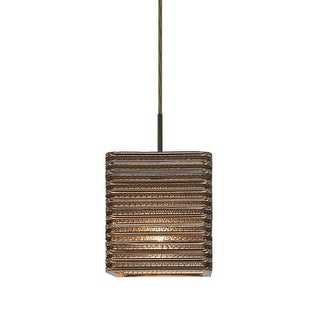 "Besa Lighting 1JT-KIRK6-LED Kirk Single Light 6"" Wide LED Mini Pendant with Corr"
