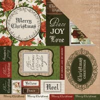 "Letters To Santa Double-Sided Cardstock 12""X12""-Be Merry"