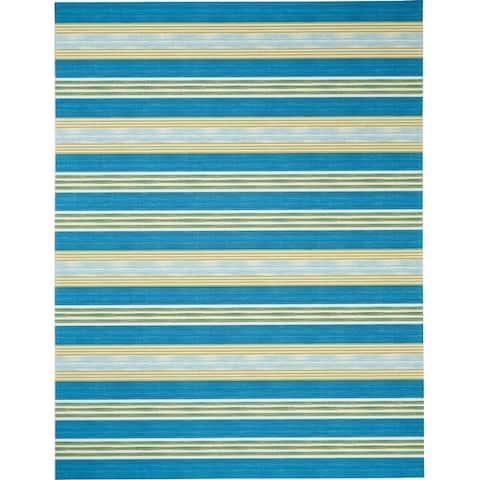 Waverly Sun N' Shade Striped Indoor/Outdoor Area Rug