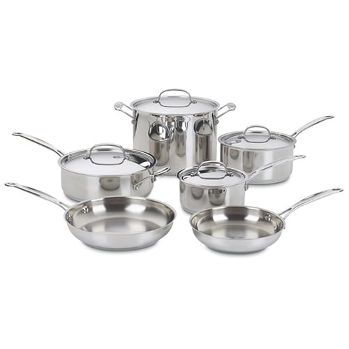Cuisinart Chefs Classic 10-Pc Stainless Cook Set Cuisinart Chefs Classic 10-Pc Stainless Cook Set