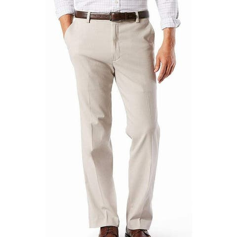 Dockers Mens Easy Khaki Pants Beige 50x30 Big & Tall Classic Fit Stretch