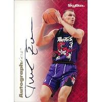 Signed Tabak Zan Toronto Raptors Zan Tabek 199697 Skybox Basketball Card autographed