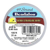Beadalon Wire Standard Bright 49 Strand .018 Inch / 100 Feet