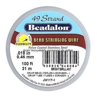 Beadalon Wire Standard Bright 49 Strand .018 Inch / 100 Feet