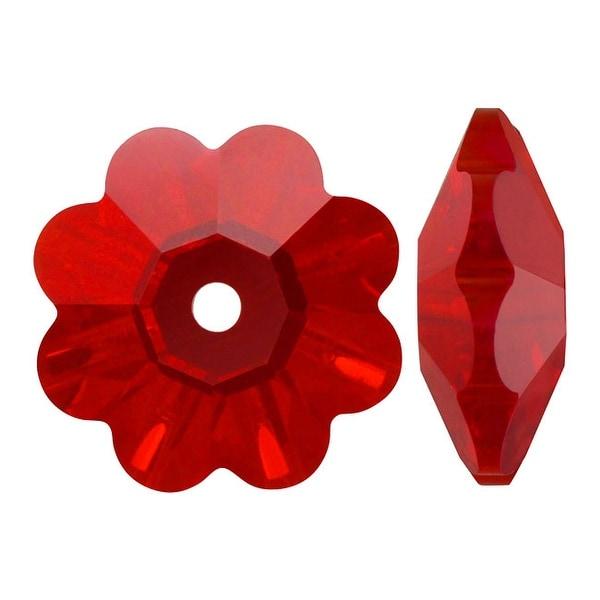 Swarovski Elements Crystal, 3700 Flower Margarita Beads 6mm, 12 Pieces, Light Siam