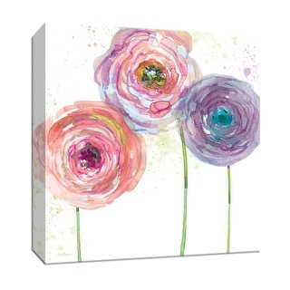 """PTM Images 9-147497  PTM Canvas Collection 12"""" x 12"""" - """"Summer Fields III"""" Giclee Flowers Art Print on Canvas"""