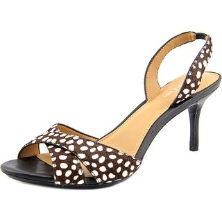Calvin Klein Lucette Women Open Toe Suede Brown Sandals