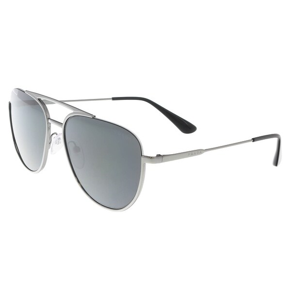 8bcfc70208 Shop Prada PR 50US 5AV5S0 Gunmetal Aviator Sunglasses - 56-17-140 ...