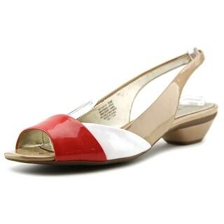 Anne Klein AK Layth Women  Peep-Toe Synthetic Multi Color Slingback Heel