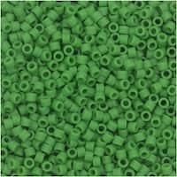 Miyuki Delica Seed Beads, 11/0 Size, 7.2 Gram Tube, 754 Matte Opaque Pea Green