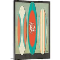 Shanni Welsh Premium Thick-Wrap Canvas entitled Surf Boards Two - Multi-color