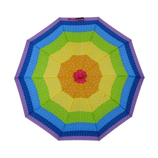 Stars in the Rainbow Colorful Auto Open Stick Umbrella