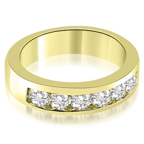 0.70 cttw. 14K Yellow Gold Classic Channel Round Cut Diamond Wedding Band