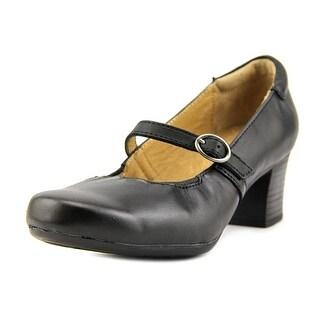 Walksmart Paige Women  Round Toe Leather Black Heels