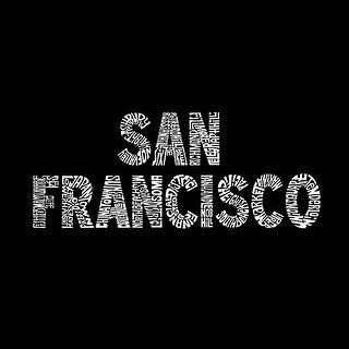 LA Pop Art Girl's Word Art Long Sleeve - SAN FRANCISCO NEIGHBORHOODS - Red, XL