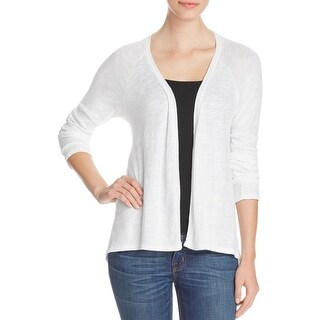 Lilla P Womens Cardigan Top Drapey Open Front