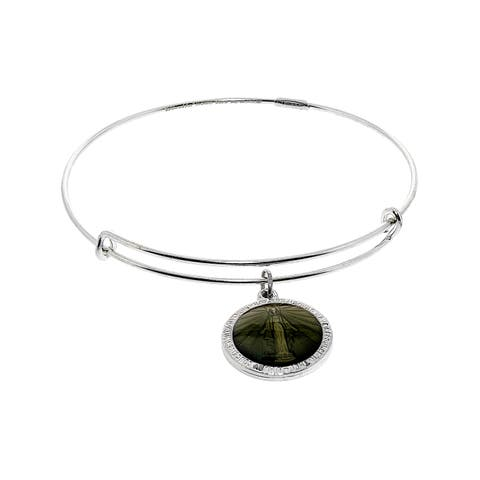 "Alex And Ani Women's Miraculous Bangle Bracelet - 9"" - Silver"