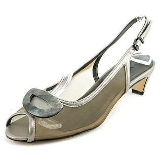 Vaneli Bowl Open-Toe Leather Slingback Sandal