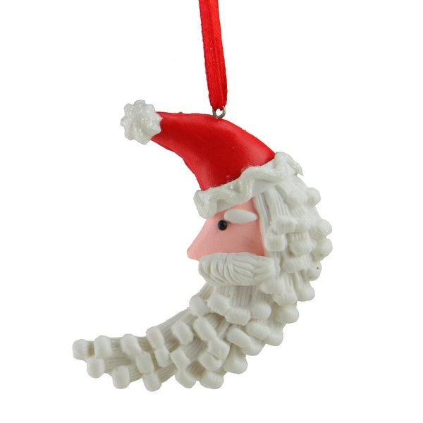 Sweet Memories Frosted Santa Claus Moon Cookie Christmas Ornament