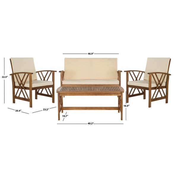 Safavieh Outdoor Living Fontana 4-piece Outdoor Set