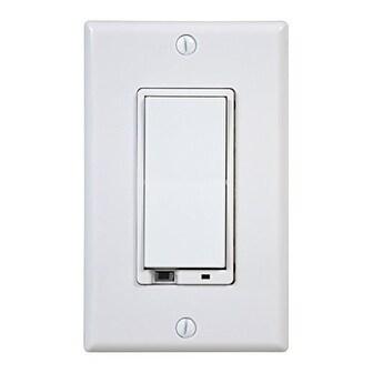 Linear LINWD500Z1w Linear WD500Z-1 Z-Wave 500-watt Wall Mount Dimmer Switch, Small, White