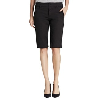 Vince Womens Walking Shorts Side Buckle Woven