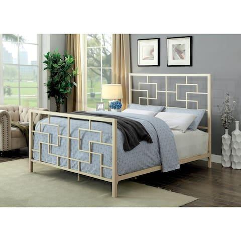Furniture of America Queg Contemporary Metal Geometric Bed