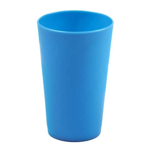 Break-Resistant Plastic Cups 10oz, Reusable Design, 34-1131-blue