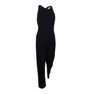 Lauren by Ralph Lauren Women's Jersey Open Back Jumpsuit - Black