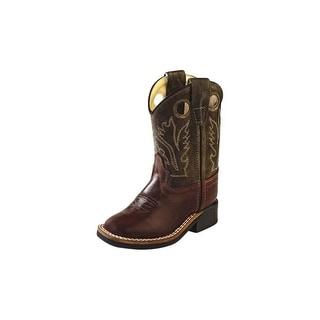 Old West Cowboy Boots Boys Girls Kids Stitching Chocolate BSI1877
