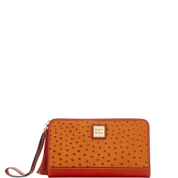 Dooney & Bourke Ostrich Embossed Leather Alice Wristlet Clutch (Introduced by Dooney & Bourke at $168 in Apr 2018)