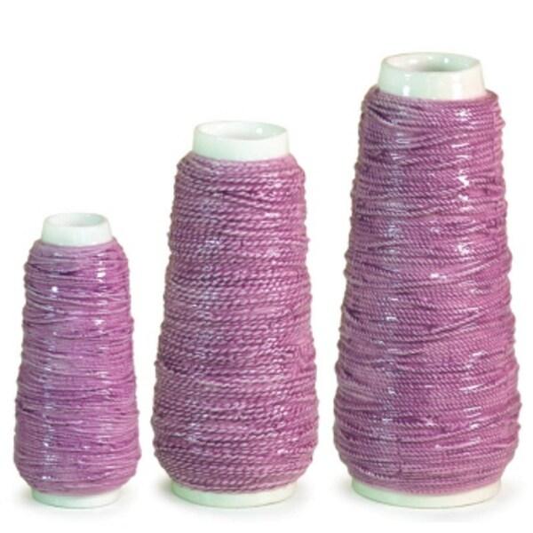 pack of 6 spring serenity purple spool of yarn flower vases 7